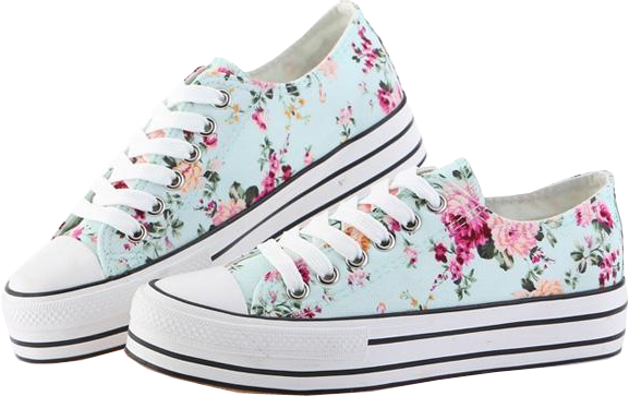Street-chic Floral Canvas Sneakers