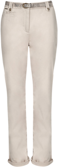 Cotton Rich Chinos with Snake Print Belt