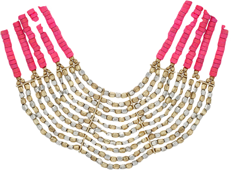 Pink Multi Row Necklace