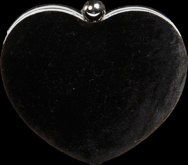 Kate Heart Shape Velvet Clutch