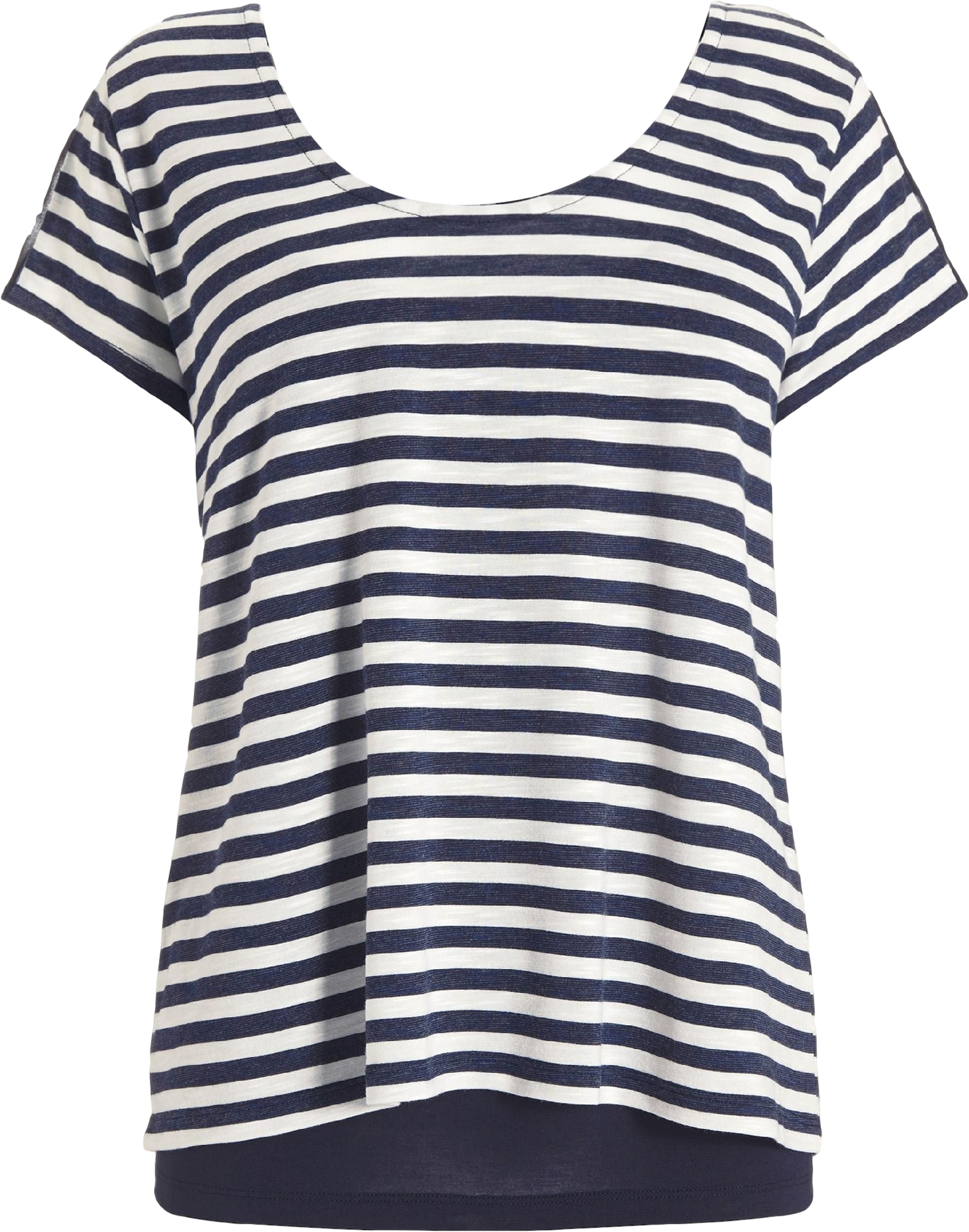 Two Part Stripe Layered Top