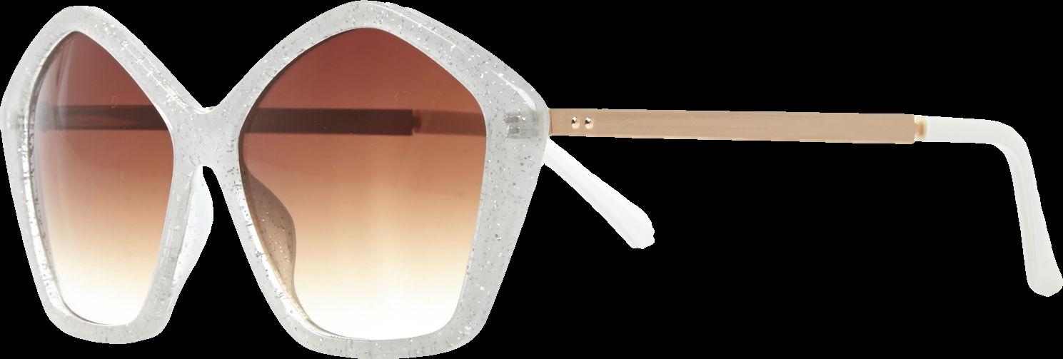 Silver glitter star sunglasses
