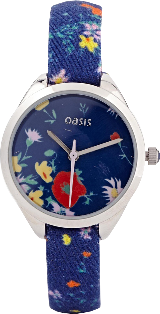 Oasis Blue Floral Watch