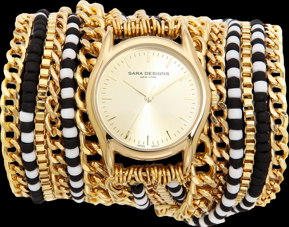 Chain & Bead Wrap Watch