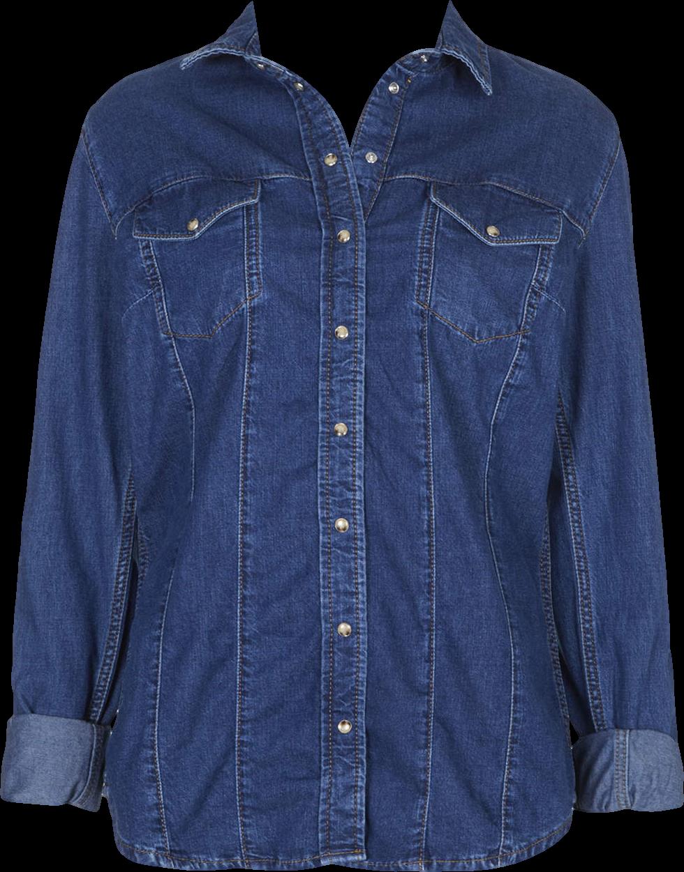 MOTO Fitted Western Denim Shirt