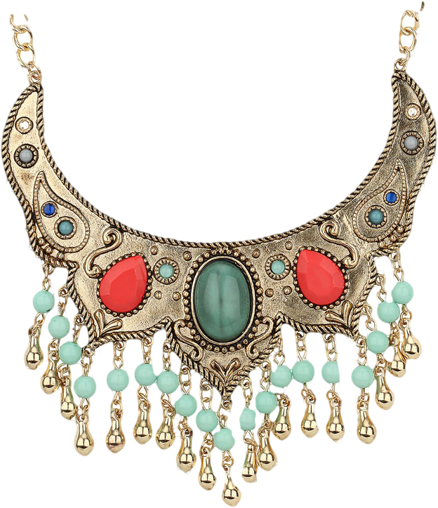 Tassel Stone Collar