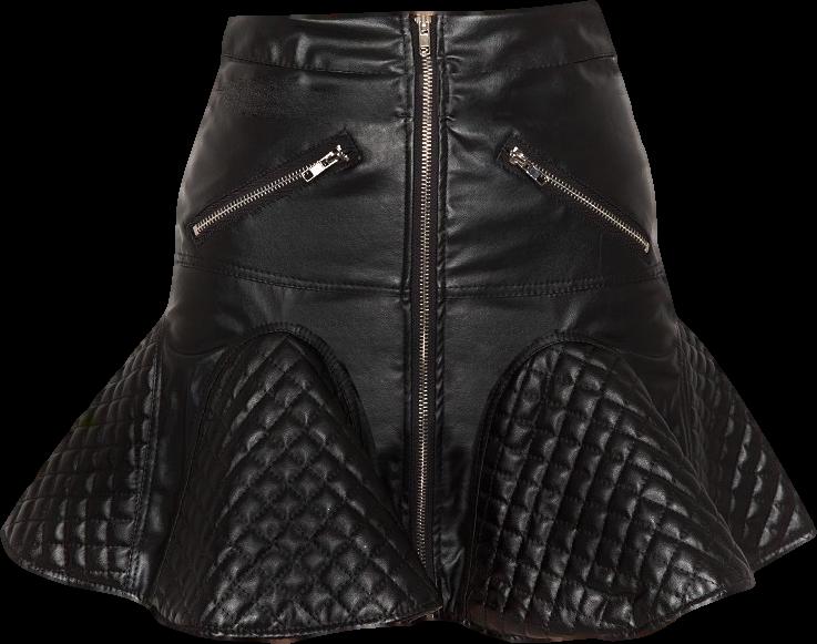 Lover Zip Flare Skirt