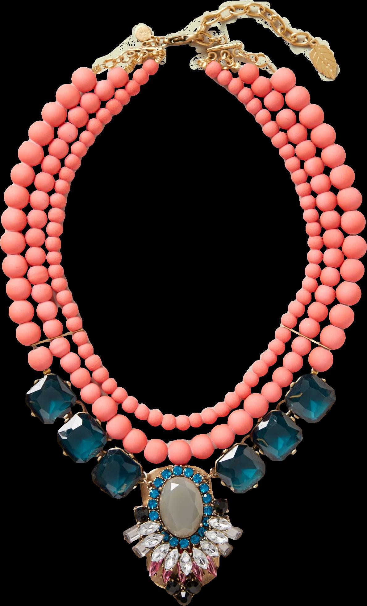Gallica Bib Necklace