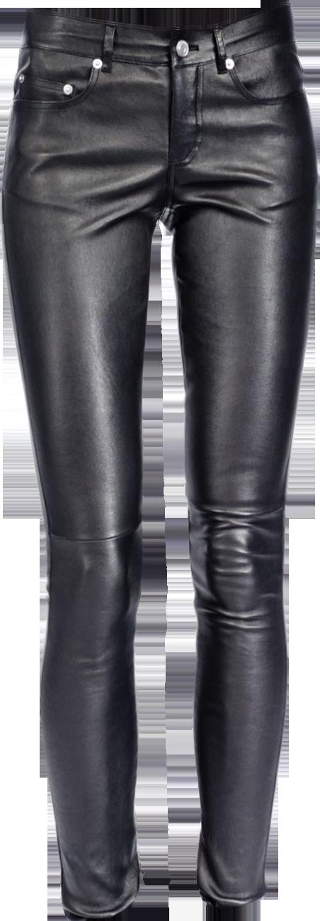 Short-Sleeve Mini Leopard-Print Tee & Leather Skinny Pants