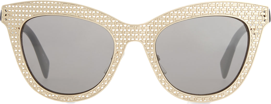 MARC by Marc Jacobs Laser-Cut Cat-Eye Sunglasses, Gold