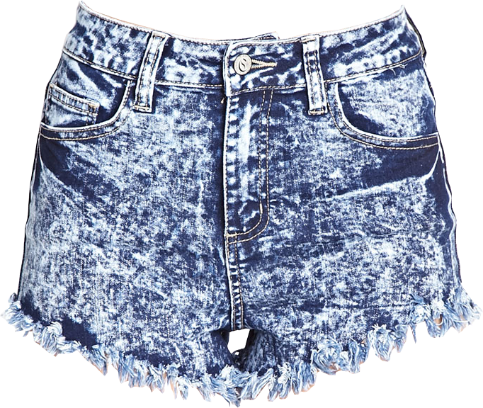 Frayed Acid Wash Cutoffs