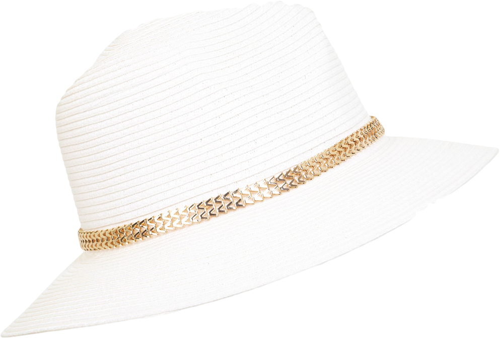 Metral Trim Straw Fedora
