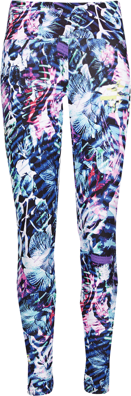 Graphic Floral Cropped Leggings with Cool Comfort™ Technology
