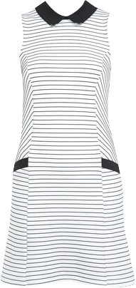 PETITES STRIPE SHIFT DRESS
