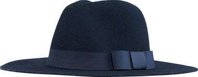 ROMWE Bowknot Embellished Vintage Black Hat