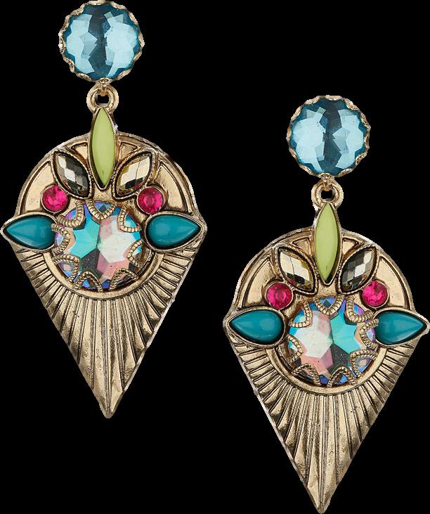 Bright Stone Drop Earrings