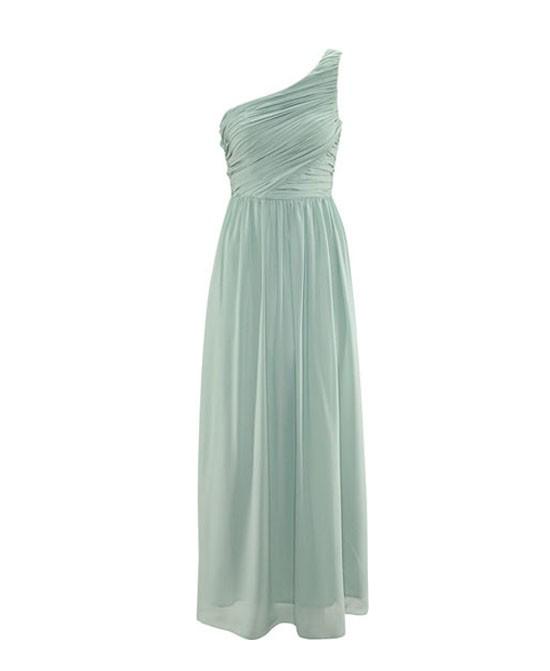 Pure Color Chest Wrap Dress