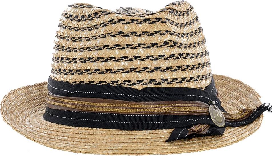 Straw Hat in beige/black