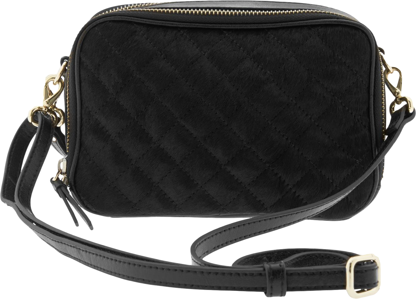 Harper Quilted Double-Zip Camera Crossbody
