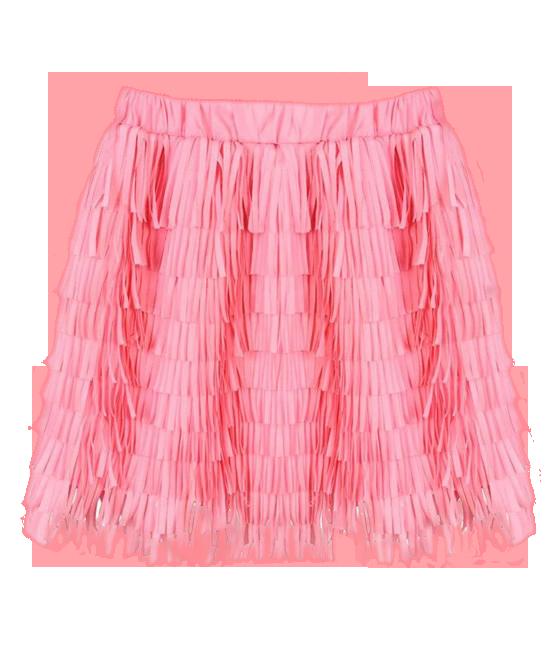 Pure Color Tassels Chiffon Skirt
