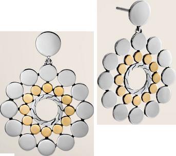 Drop Earrings. All in Sterling Silver & 18K Gold.