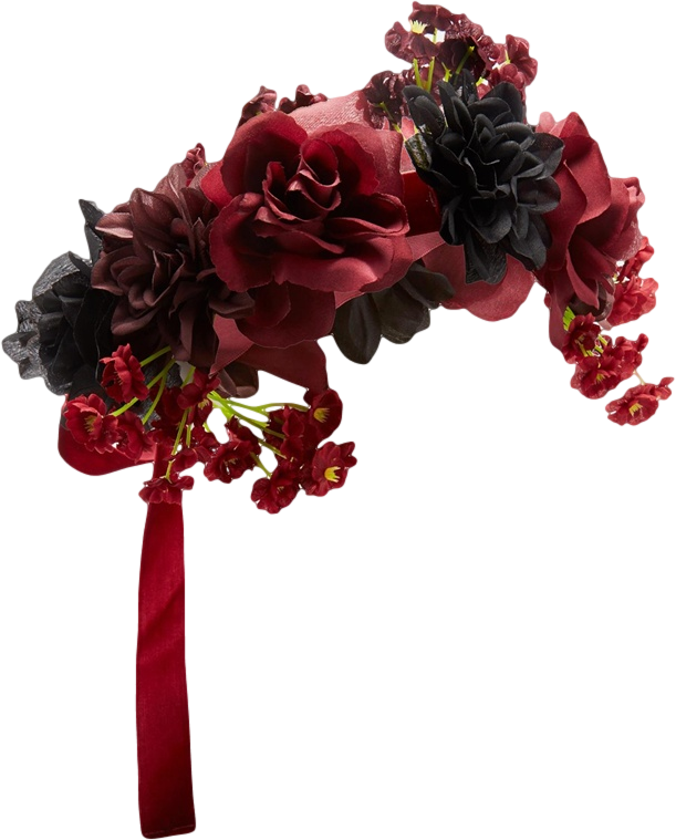 ASOS Halloween Flower Garland with Velvet Tie