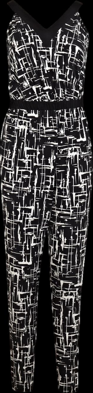 Monochrome Cross Back Jumpsuit
