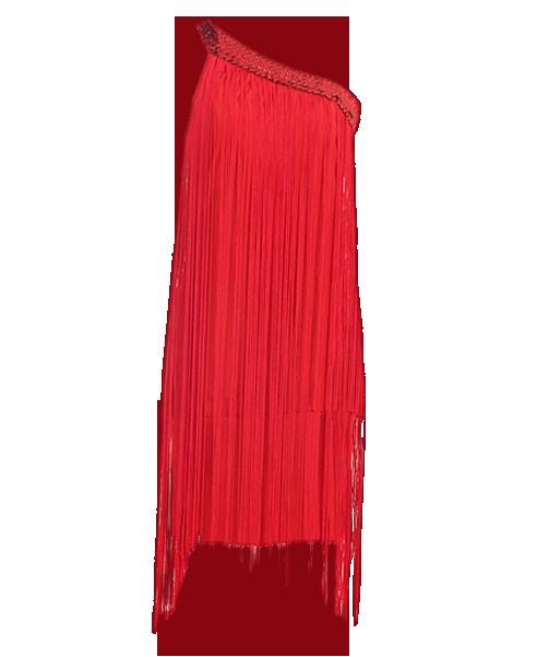 One Shoulder Fringe Bodycon Dress