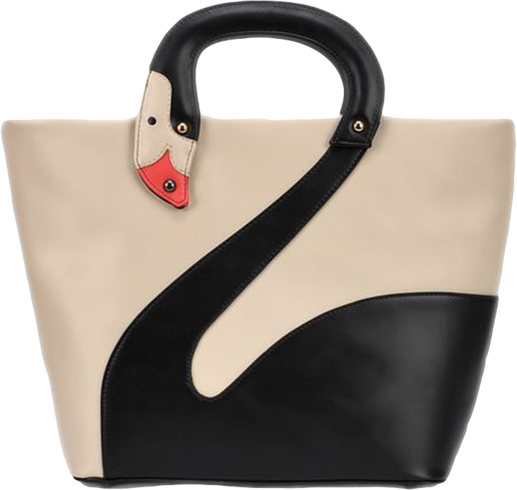 Choies Hand Made Black Flamingo Tote Bag