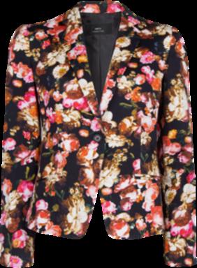 Floral print suit blazer