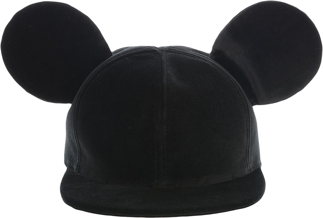 Velvet Baseball Cap Tito in black