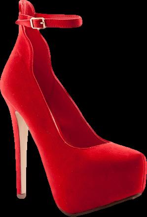 Twilight Tango Faux Suede Ankle Strap Platform Stiletto Pumps -