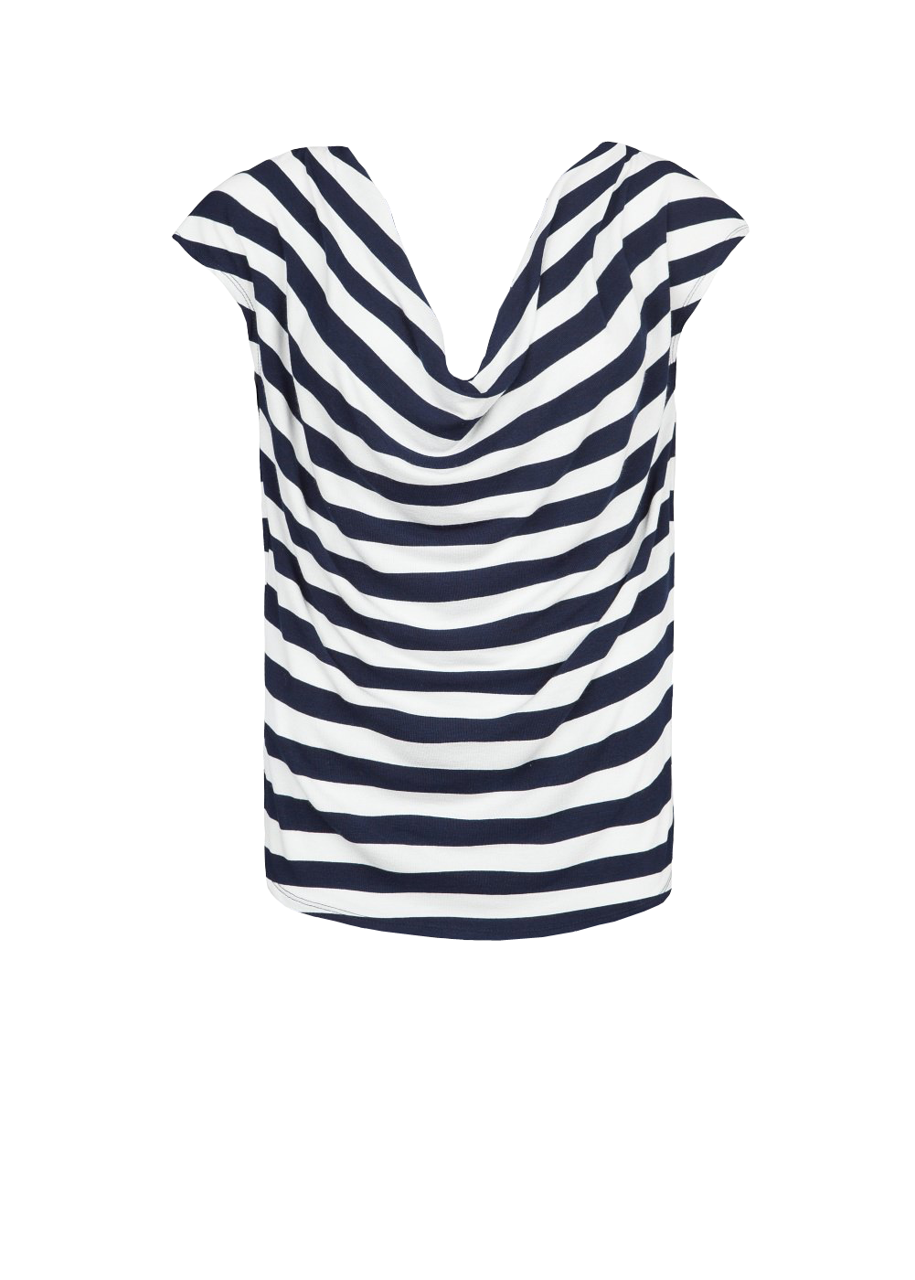 Striped draped t-shirt