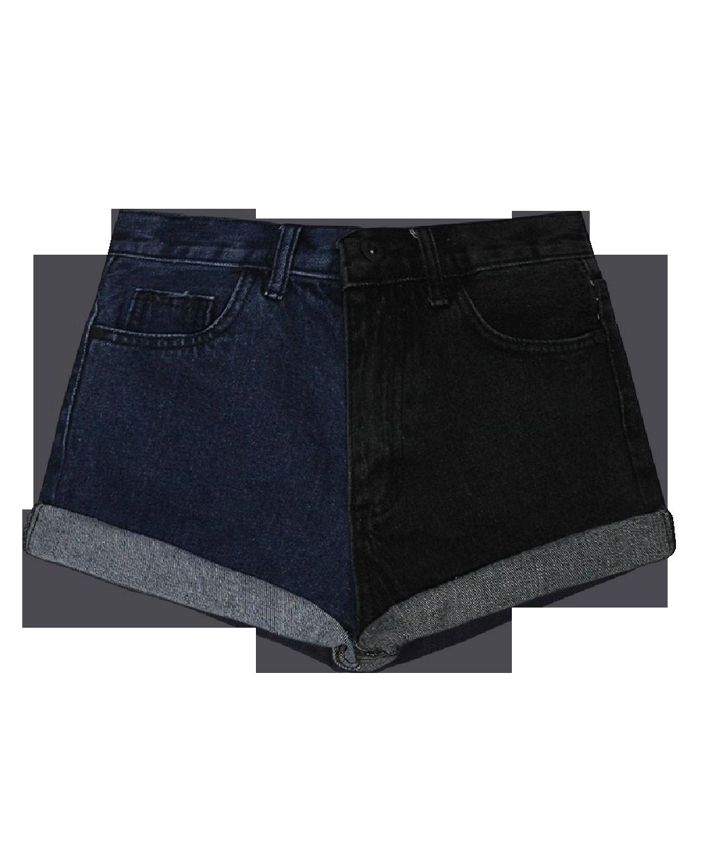 Mid and High Waist Denim Shorts
