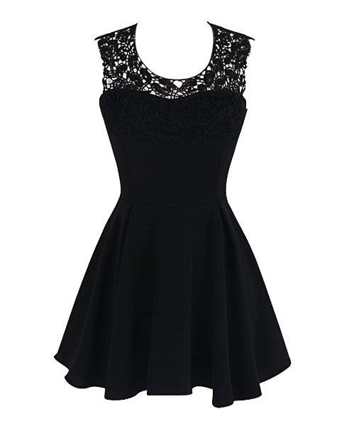 Lace Halter Splice Lace Dress