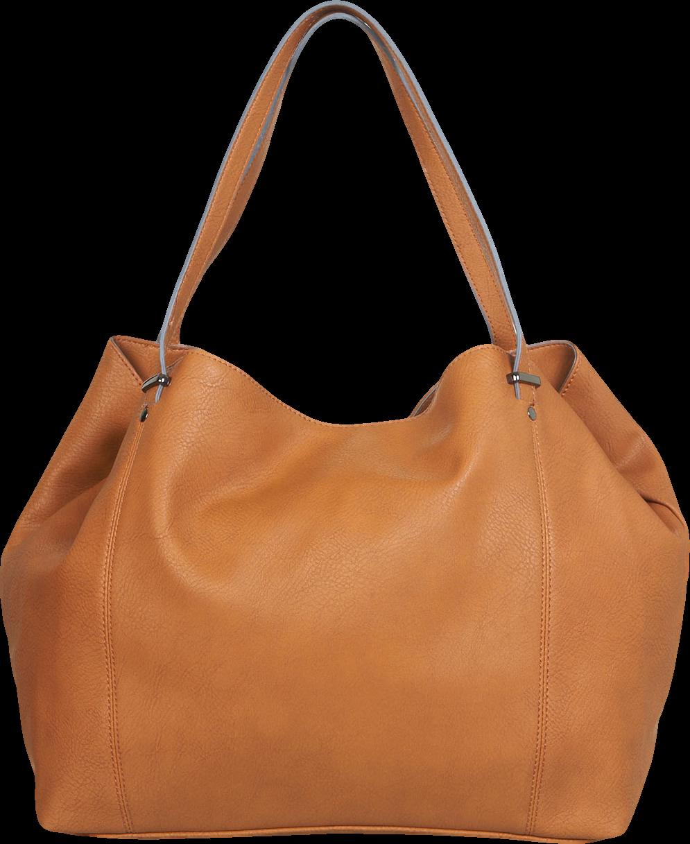 Tan Slouchy Shopper Bag