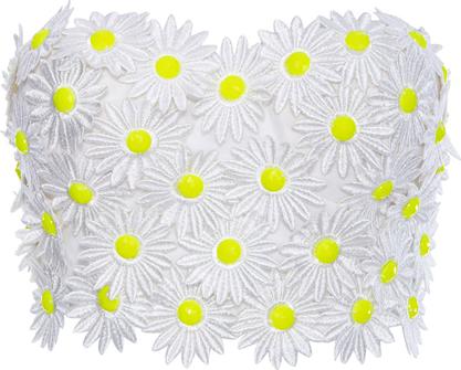 ROMWE Daisy Embellished White Bandeau