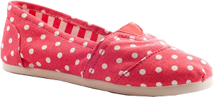 Pattern Passion Pattern Canvas Flats - Red Polka Dots