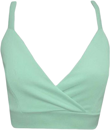 FDAvenue Strappy Wrap Over Vest Top In Mint