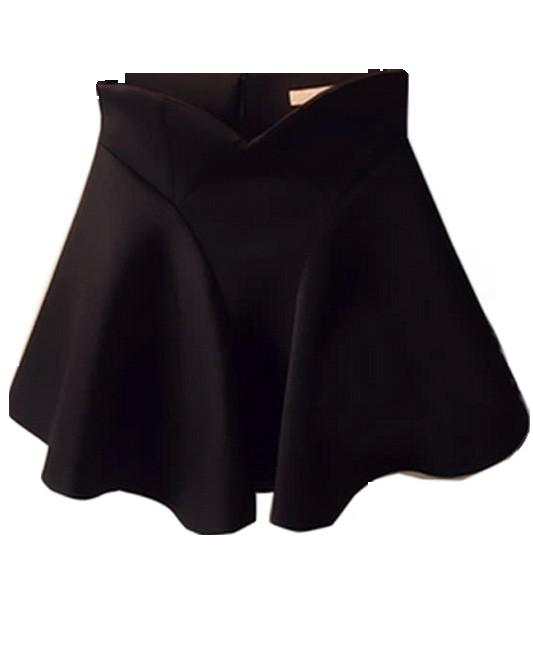 High Waist Flouncing Bubble Skirt