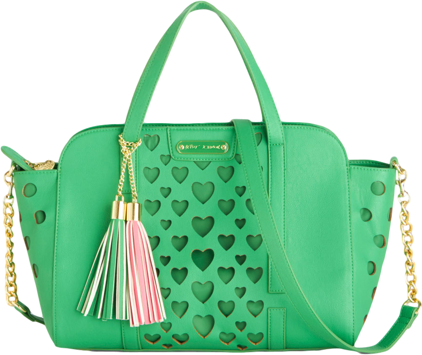 Betsey Johnson Green with Love Bag