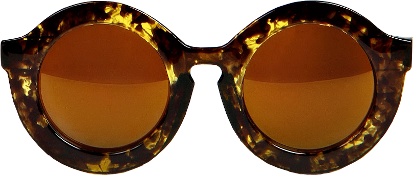 Claudia Oversize Round Frame Sunglasses