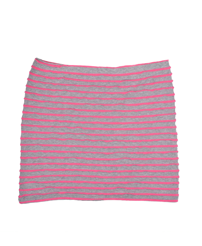 Stripe Print Body-Conscious Tube Skirt