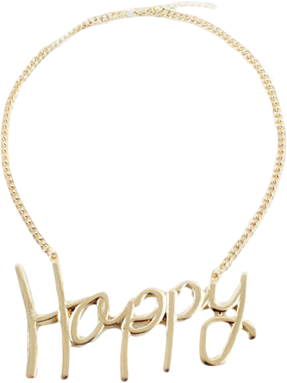ROMWE Happy Pendant Necklace