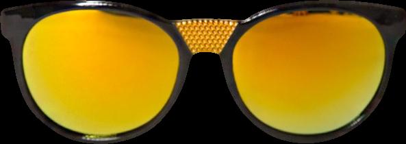 Gold mirror sunglasses