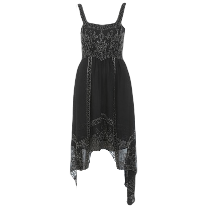 INSPIRED BY BLACK BEAD DRESS