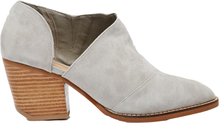Shellys London Anime Gray Suede Cut Out Low Shoe Boots