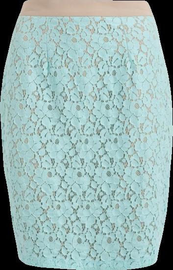 ALMARI Aqua Lace Skirt