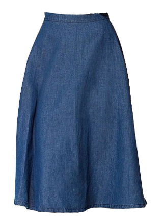 High Waist Loose Fit Denim Skirt