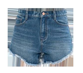 Street Style High Waist Denim Shorts